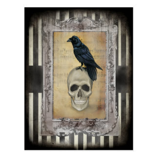 Raven and Skull Postcard