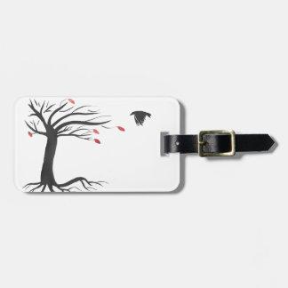 Raven and Tree Bag Tag