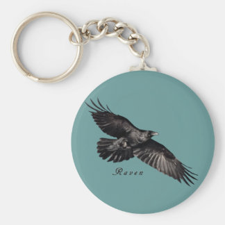 Raven Animal-lover Bird-fancier Gifts Keychain