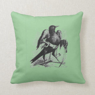 Raven Armed Demon Bird Throw Pillow