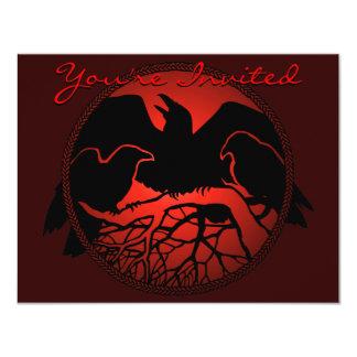 Raven Art Invitations Personalized Native Art Card