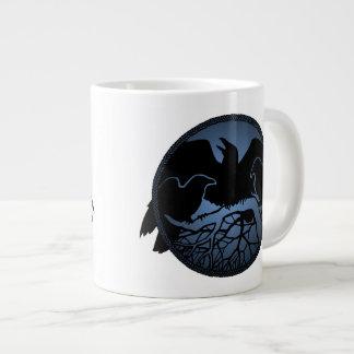 Raven Art Jumbo Mugs Cool Crow Art Cups & Mugs