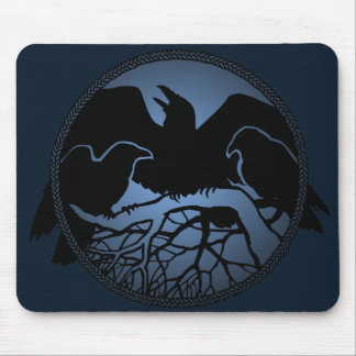 Raven Art Mouspads Cool Crow Art Computer Gifts Mouse Pad