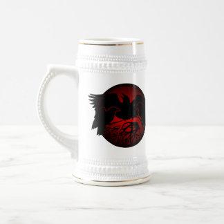 Raven Art Mug Wild Bird Beer Mug Raven Stein