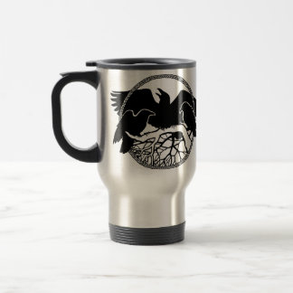 Raven Art Mug Wild Bird Travel Mug Raven  Mugs