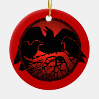 Raven Art Ornament Black Crow Decorations Gifts