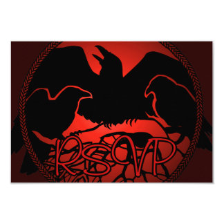Raven Art RSVP Personalized Native Art Card