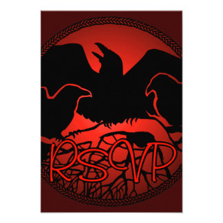 Raven Art RSVP Personalized Native Art Card