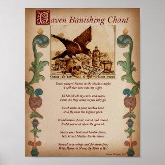 RAVEN BANISHING CHANT POSTER