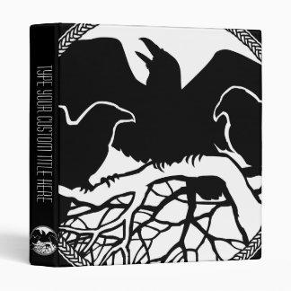 Raven Binder Raven Gift Raven Crow Art Photo Album Vinyl Binder