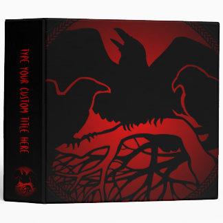 Raven Binder Raven Gift Raven Custom Photo Album Vinyl Binders