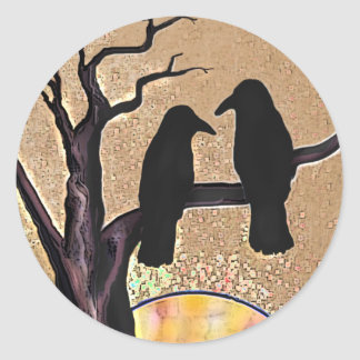 Raven Birds Crow Sunrise Protector Stickers