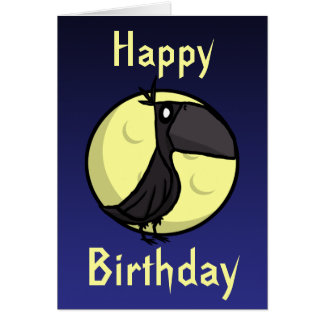 Raven Birthday Card
