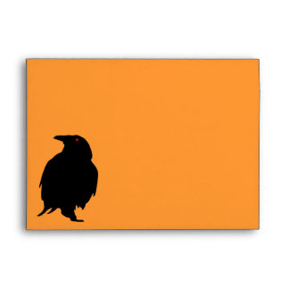 Raven Black Halloween Envelope