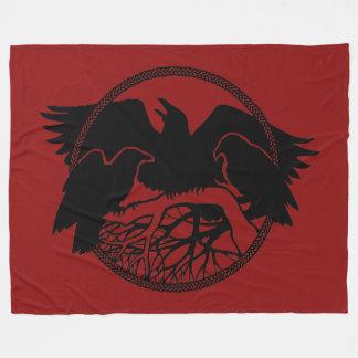 Raven Blanket Native Spirit Animal Fleece Blanket