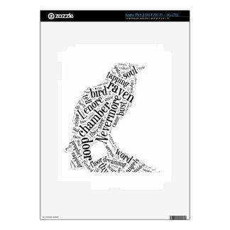 Raven by Edgar Allan Poe Skin For iPad 3