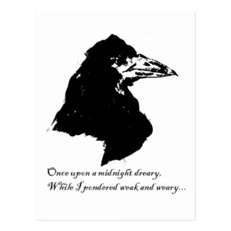 Raven -- by Manet Postcard