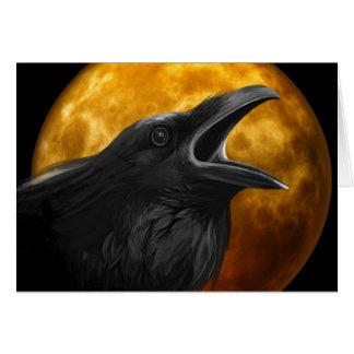 Raven Call Pagan Greeting Card