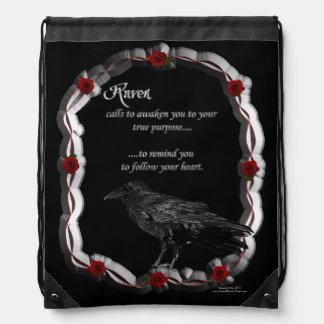 Raven Calling Drawstring Backpack