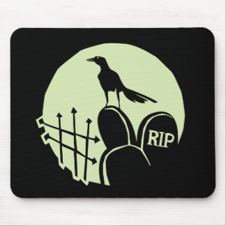 Raven Cemetery Moon Mouse Pad