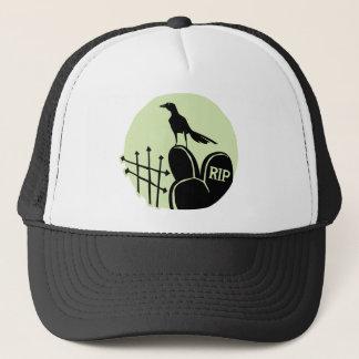 Raven Cemetery Moon Trucker Hat