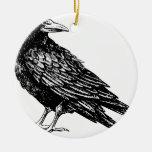 Raven Christmas Ornament