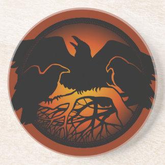 Raven Coaster Raven Decor Raven Crow Art Coasters