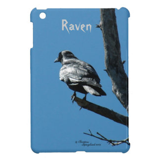 Raven Crow bird contemplating iPad Mini Case