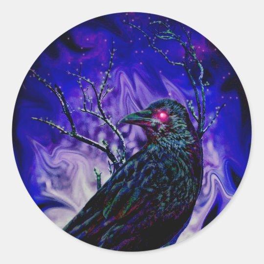 Raven/Crow Classic Round Sticker