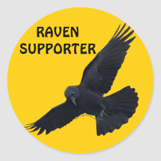 RAVEN & CROW Designs New! Classic Round Sticker