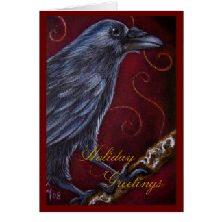RAVEN CROW HOLIDAY Card