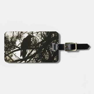 Raven Crow Steampunk Luggage Tag