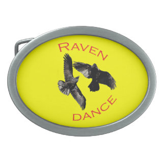 Raven Dance Belt Buckle
