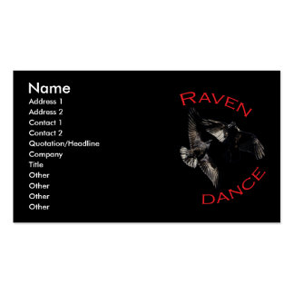 Raven Dance Double-Sided Standard Business Cards (Pack Of 100)