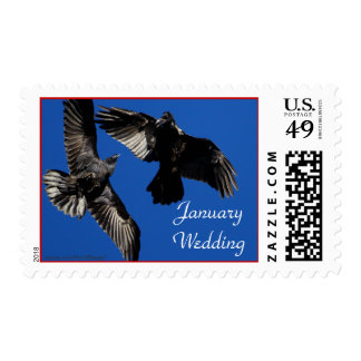 Raven Dance, January Wedding, Stamp
