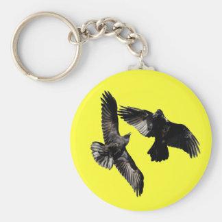 Raven Dance Basic Round Button Keychain