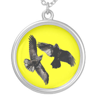 raven dance personalized necklace