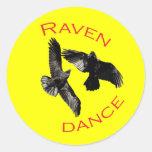 Raven Dance Round Sticker