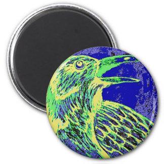 raven day glow 2 inch round magnet