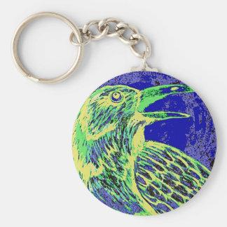 raven day glow basic round button keychain