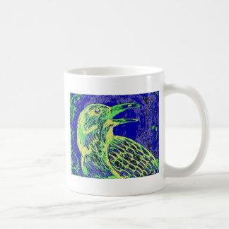 raven day glow classic white coffee mug