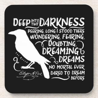 Raven (Deep Into That Darkness) by Edgar Allan Poe Beverage Coaster