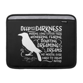 Raven (Deep Into That Darkness) by Edgar Allan Poe MacBook Sleeve