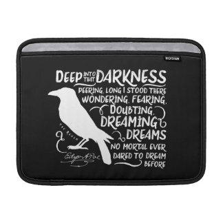 Raven (Deep Into That Darkness) by Edgar Allan Poe MacBook Sleeves