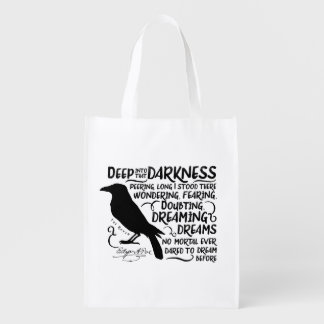 Raven (Deep Into That Darkness) by Edgar Allan Poe Market Totes