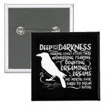 Raven (Deep Into That Darkness) by Edgar Allan Poe Pinback Button
