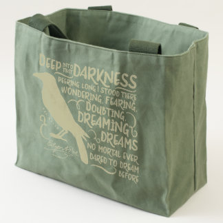 Raven (Deep Into That Darkness) by Edgar Allan Poe Tote