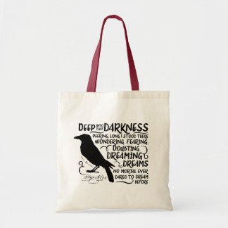 Raven (Deep Into That Darkness) by Edgar Allan Poe Tote Bag
