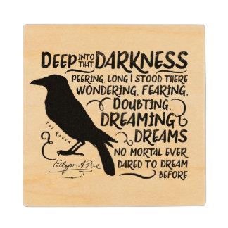 Raven (Deep Into That Darkness) by Edgar Allan Poe Wooden Coaster