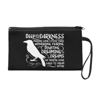 Raven (Deep Into That Darkness) by Edgar Allan Poe Wristlet Purse